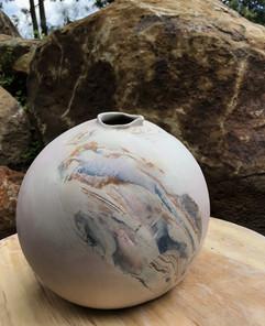 sphere in greenware state.JPG