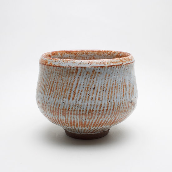 Small Slipped Shino Bowl | By Roelof Uys