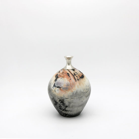 Saggarfired Silver Top Vessel | By Alison West