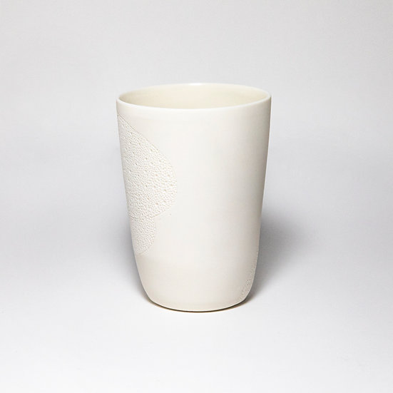 Porcelain Cup with Crater Drawing VII | By Josefina Isaza