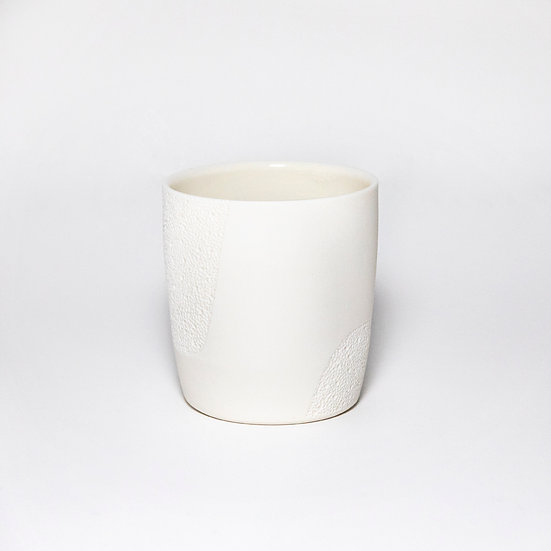 Porcelain Cup with Crater Drawing V | By Josefina Isaza