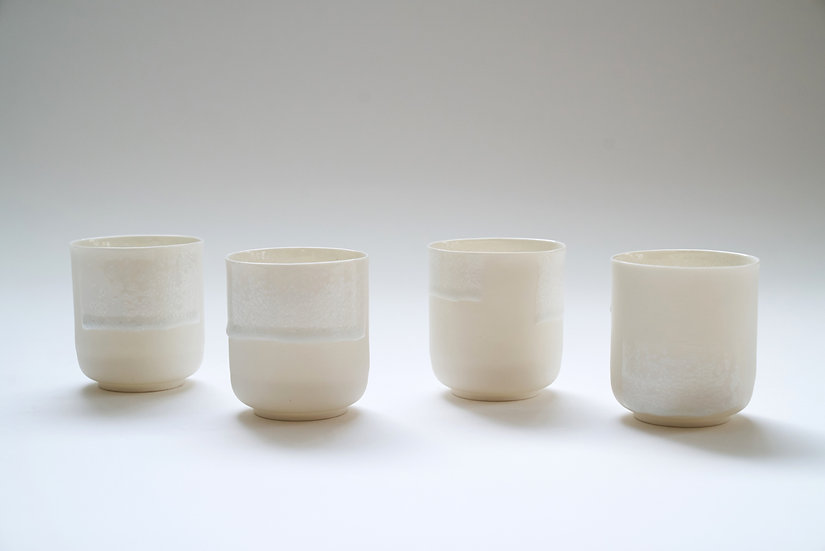 Small Alistair Cups with Crystalline Glaze  | By The Light Forge
