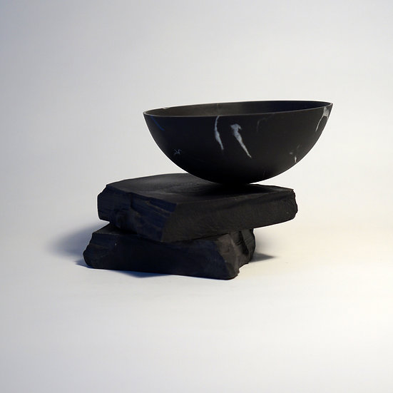 Black Bowl on Two Black Blocks | Kim Colebrook