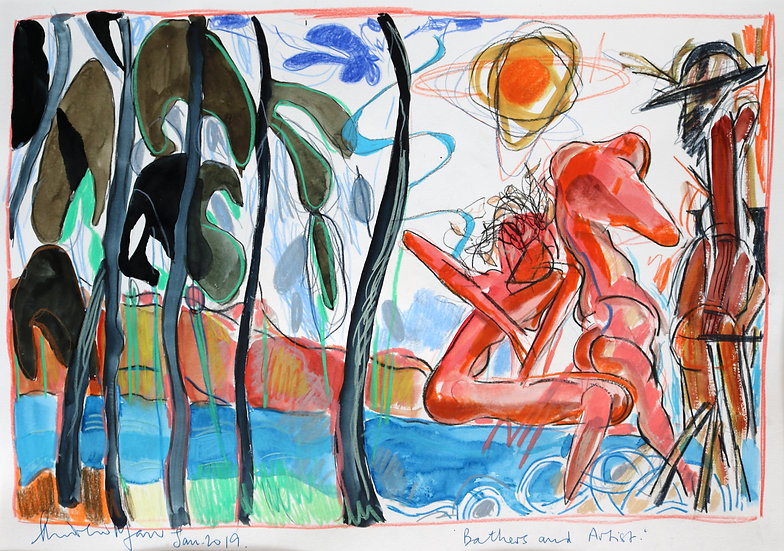 Bathers and Artist | By Andrew Marr