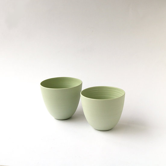 Water Beakers, Pale Green (Set of 2) | By Arjan Van Dal
