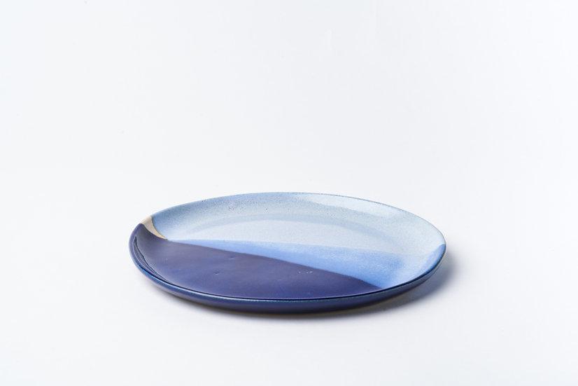Blue 2 Tone Side Plate
