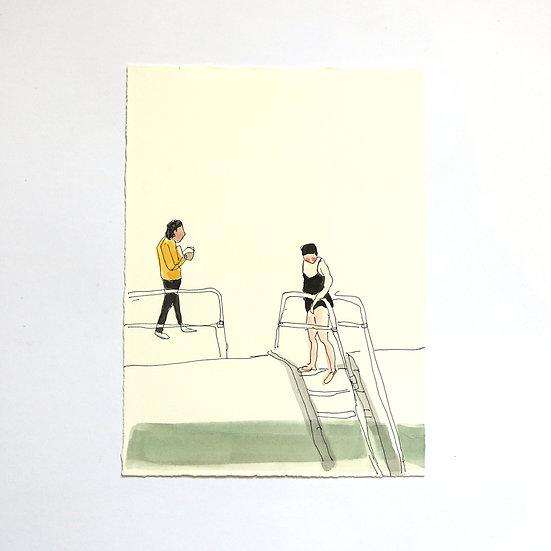 'Ponds' Sketch   By Helen Beard