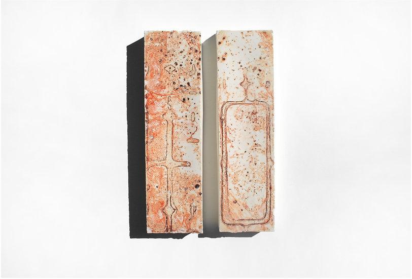 Rust 25 (Pair)   By Nadire Gokmen