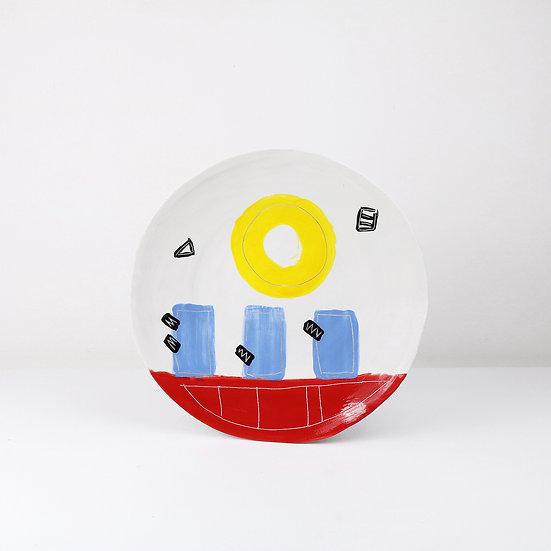 Large Fusion Plate | By Clementina Van Der Walt