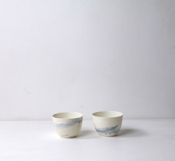 Small Bowls with Blue Swirl  | By The Light Forge
