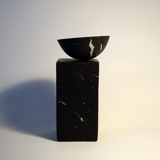 Solid Black Block and Bowl | Kim Colebrook