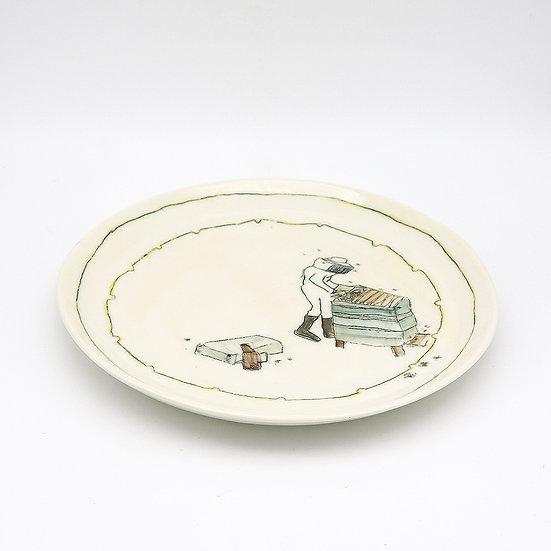 Bee Keeper Plate | By Helen Beard