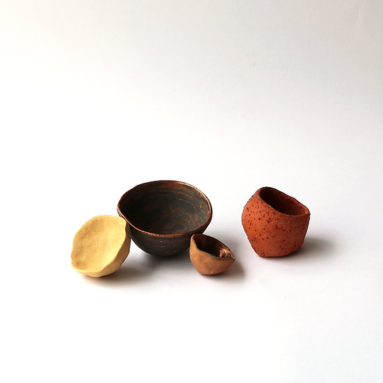 Wild Clay Pinch Pots (Set of 4) | By Larissa Warren