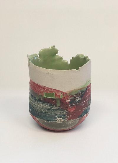 Small Pink Vessel, Light Green
