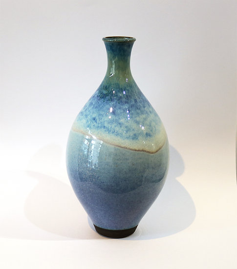 Stoneware Bottle with Rutile Glaze