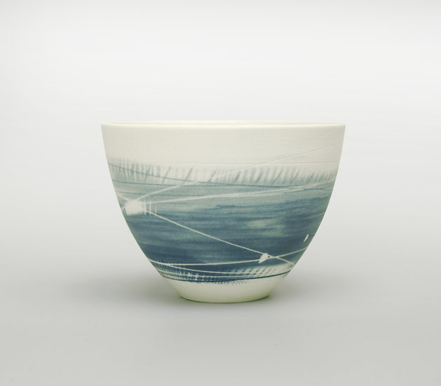 Small Cup/Bowl (Two Blues)