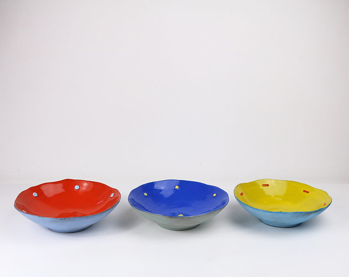 'Colour Me Bright' Dessert Bowl   By Clementina Van Der Walt