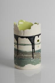 2 E Wall Grogged Porcelain 19x12cm £130.