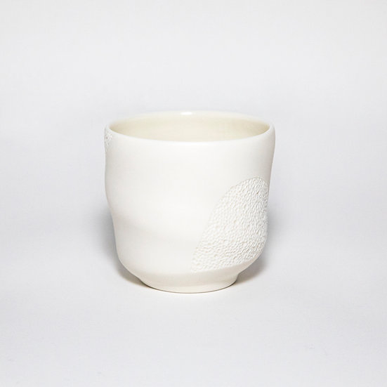 Porcelain Cup with Crater Drawing III | By Josefina Isaza