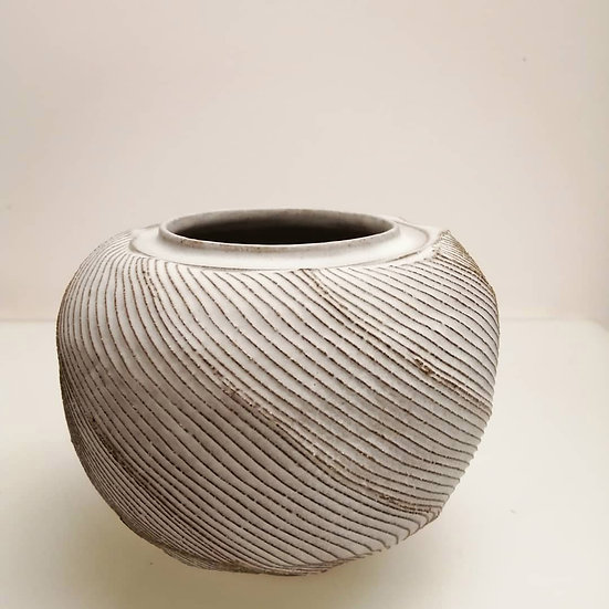 Toasted Stoneware Faceted Vessel   By Craig Fowler