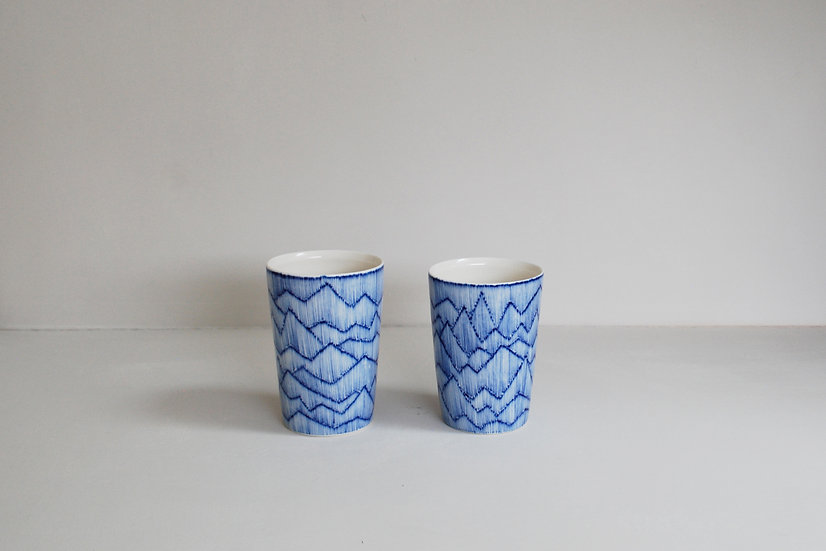 Mountain Range Beakers | By Tamsin Arrowsmith-Brown