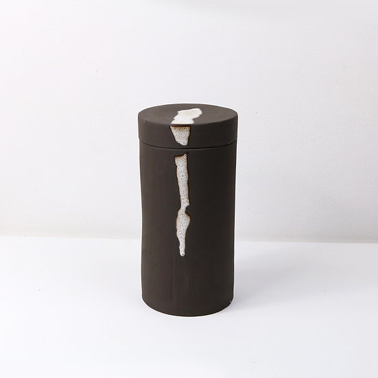 Tall Vessel with Lid   By Carla Sealey (aka Naked Clay Ceramics)