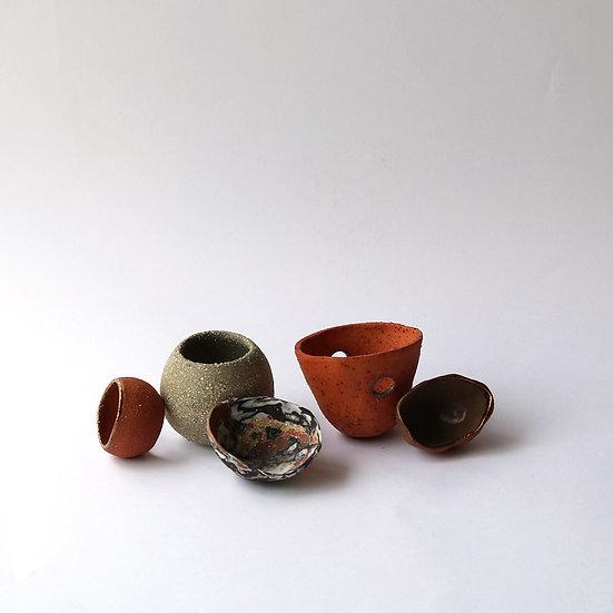 Wild Clay Pinch Pots (Set of 5) | By Larissa Warren