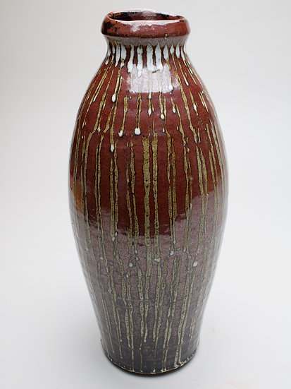 Tall Tenmoku Vase | By Leach Studio