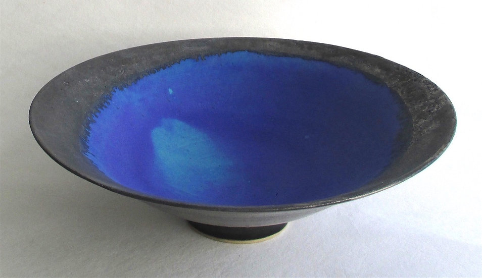 Silver Lustred Blue Pool Bowl | By Sarah Perry