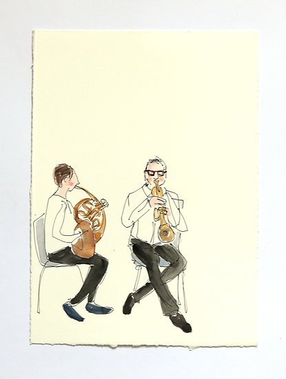 'Musicians' Sketch | By Helen Beard