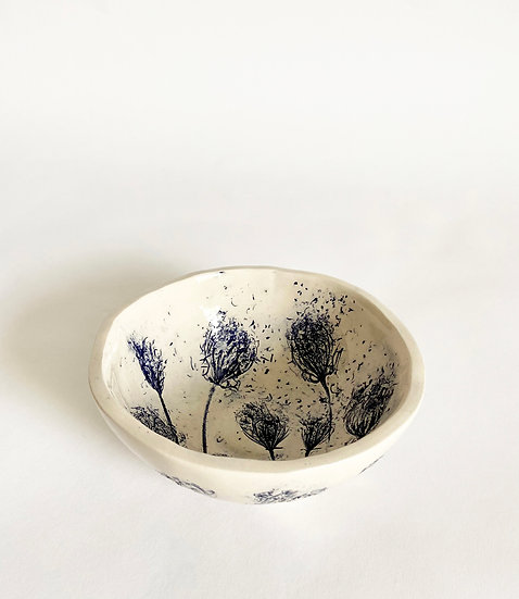 Wild Carrot Small Rounded Bowl   By Zuleika Melluish