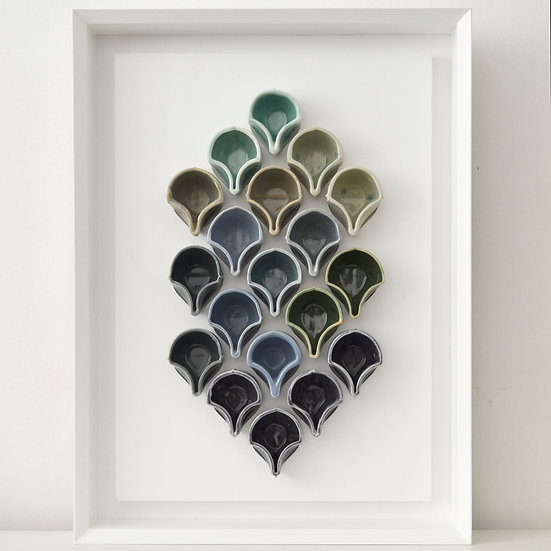 Tessellating Cups - Blue Palette   By Fettle Studio