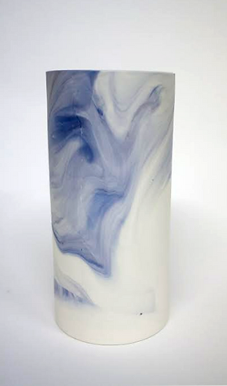 Purple and Blue Marble Vase | By Clare Flatley