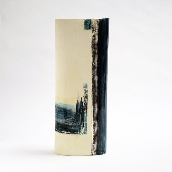 Tall Oval Vase | By Anthea Bowen