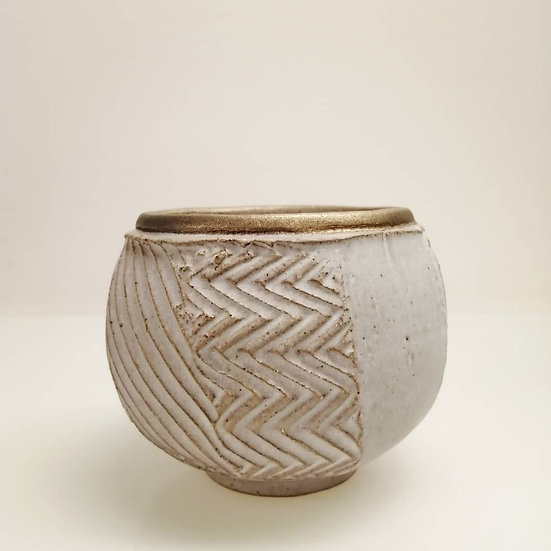 Stoneware Faceted Tea Bowl   By Craig Fowler