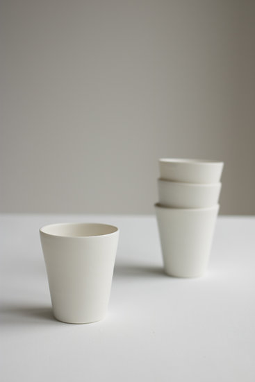 Narrow Porcelain Beaker | By Eizabeth Gorringe