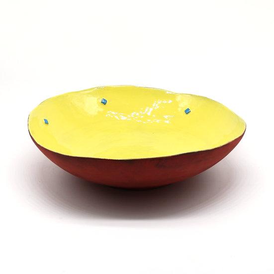 'Colour Me Bright' Shallow Salad Bowl | By Clementina Van Der Walt