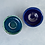 Thumbnail: Onyx and cobalt blue small fluted bowl | By Kirsty Adams