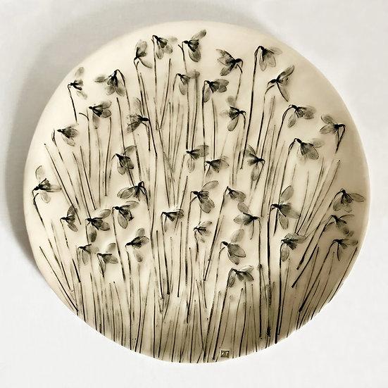 Snowdrop Wall Plate | By Zuleika Melluish