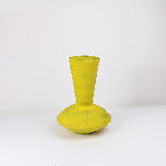 Yellow Nomad Vase   By Clementina Van Der Walt