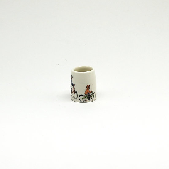 Small Bike Riders Pot | By Helen Beard