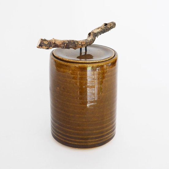 Medium Foraged Cylinder Jar   By Joseph Ludkin