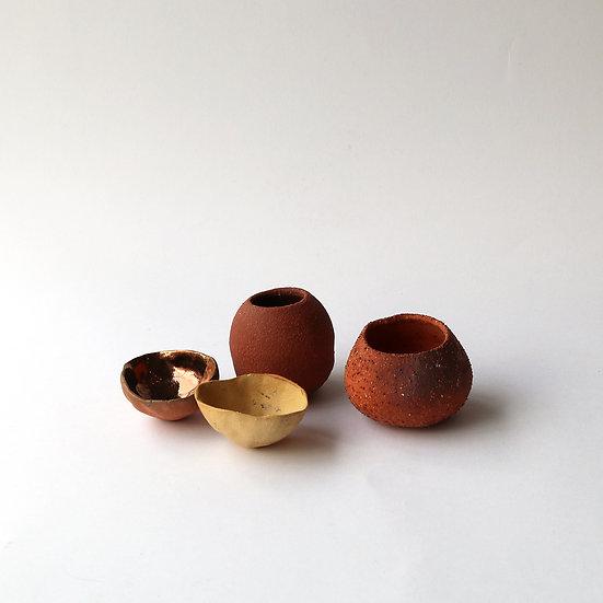 Wild Clay Pinch Pots (Set of 4) | By Larissa Warren