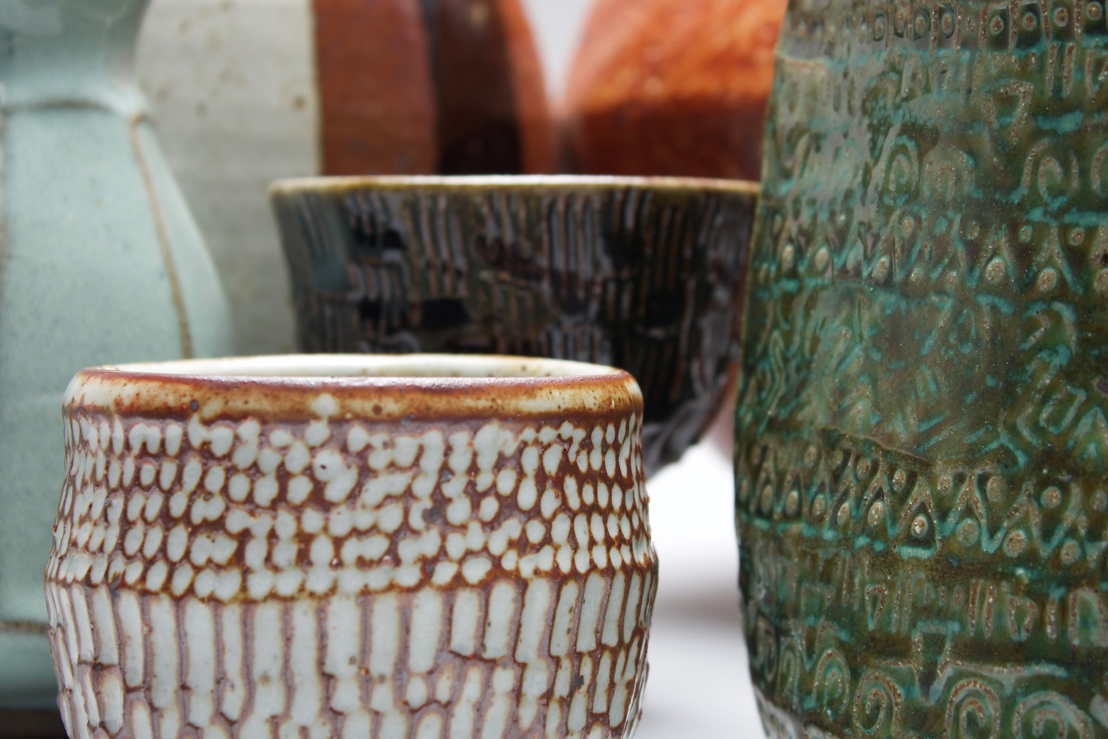 Group of pots for the Leach 2021 exhibition.jpeg