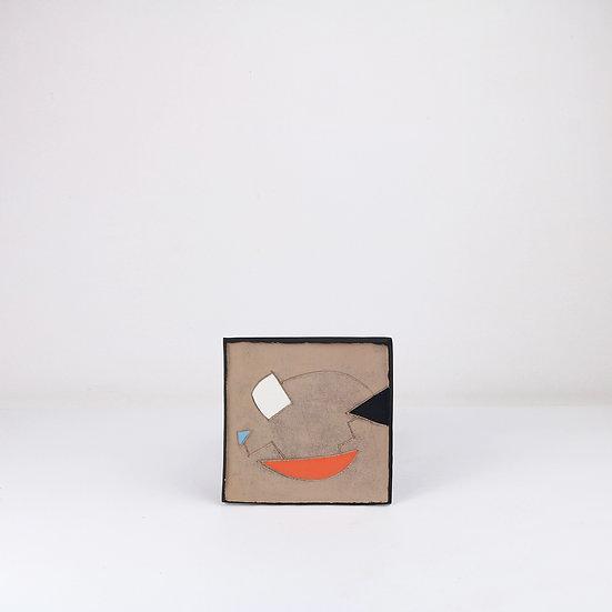 Medium Tile with Bracket   By Clementina Van Der Walt