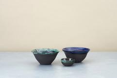 Kirsty Adams ceramics Small fluted bowls