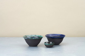 Kirsty Adams ceramics Small fluted bowls