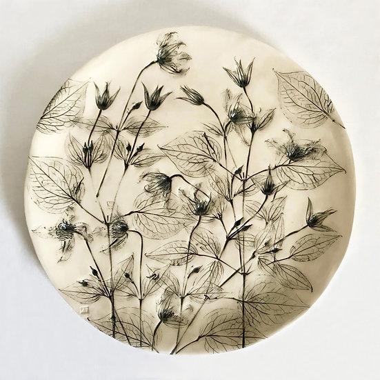 Clematis Wall Plate | By Zuleika Melluish
