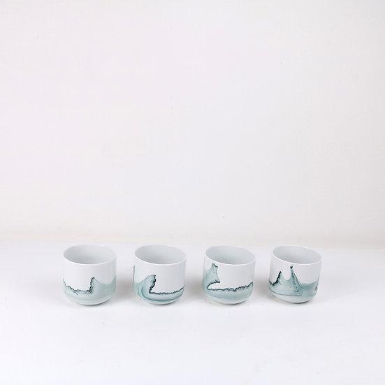 Small Petrol Tide Cup, Glazed Finish   By Anna Badur