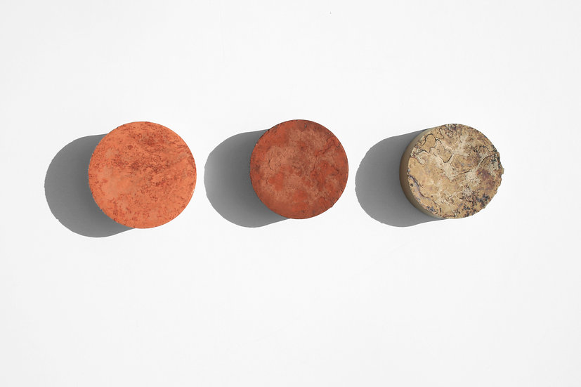 Rust Series Circles   By Nadire Gokmen